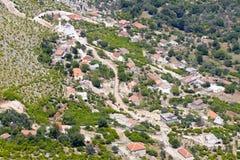 Aerial view on small Balkans village - Montenegro Stock Photos