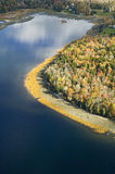 Aerial view of small lake near Acadia National Park, Maine Royalty Free Stock Images