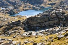 Aerial view on small lake - Pyrenees Stock Photos