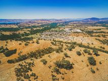 Aerial view of small rural settlement in Australia. Aerial view of small rural settlement in Australia Stock Image