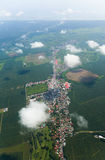 Aerial view of small town Royalty Free Stock Photo