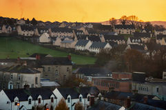 Aerial view of small town Cashel in Ireland Stock Image