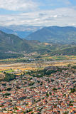Aerial view of small town in Greece Stock Photo