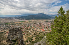 Aerial view of small town in Greece Stock Photos