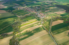 Aerial view on a small village Stock Photo