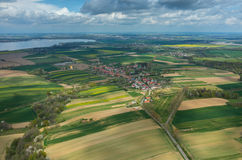 Aerial view on a small village Royalty Free Stock Photos