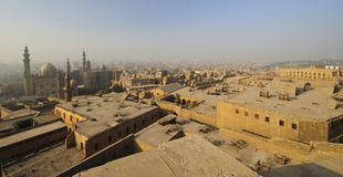 Aerial view of smoggy Cairo, Egypt Royalty Free Stock Photos