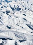 Aerial view snow mountain Royalty Free Stock Images