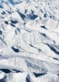 Aerial view snow mountain. Aerial view of snow mountain range Royalty Free Stock Images