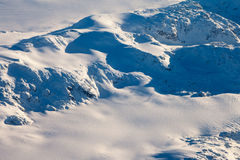Aerial view of snowcapped peaks in BC, Canada Royalty Free Stock Photography