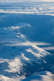 Aerial view of snowcapped peaks in BC, Canada Stock Images