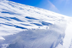 Aerial View of snowed mountain Falakro, in Greece. Royalty Free Stock Photo