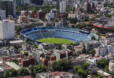 Aerial view of soccer football stadium in mexico city Stock Photo