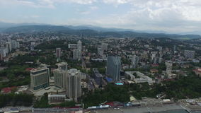 Aerial view of sochi stock footage