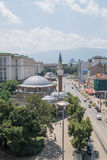 Sofia, Bulgaria capital downtown Stock Images
