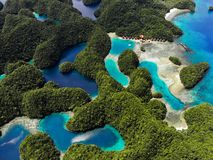 Aerial View - Sohoton Cove, Siargao - The Philippines stock photo