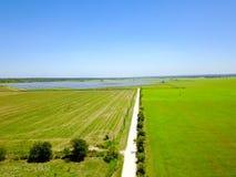 Solar farm aerial in Austin, Texas, USA Royalty Free Stock Images