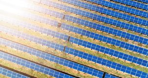 Aerial view of solar panel plant Stock Image