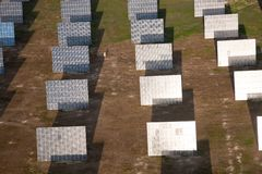 Aerial view of solar panels Huelva Province, Spain. Aerial view of solar panels in Huelva Province, Spain, Europe stock images