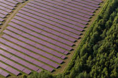 Aerial view of solar power plant Stock Photo