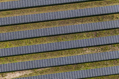 Aerial view of solar power plant Royalty Free Stock Images