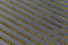 Aerial view of solar power plant Stock Image