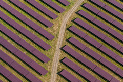 Aerial view of solar power plant Royalty Free Stock Photography