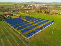 Aerial view of solar power plant Stock Photography