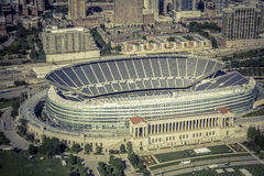 Aerial view of Soldiers Filed Stadium Royalty Free Stock Photos