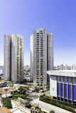Aerial view of some buildings and houses in Sao Paulo, Brazil Royalty Free Stock Photography