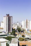 Aerial view of some buildings and houses in Sao Paulo, Brazil.  Stock Images