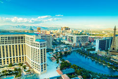 Aerial view of some hotels on Las Vegas Strip, Las Vegas, Nevada, USA.  stock images