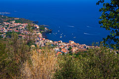 Aerial view of some sicilian towns Royalty Free Stock Images