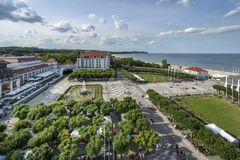 Aerial view of Sopot, tourist resort destination in Poland Stock Photo