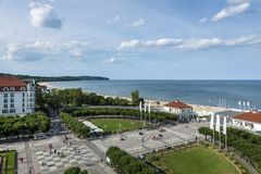 Aerial view of Sopot, tourist resort destination in Poland Stock Photos