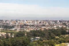 Aerial view of sorocaba. View of sorocaba city on a clear sky Stock Photos