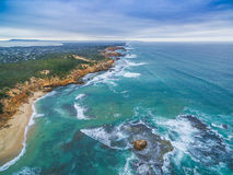 Aerial view of Sorrento Back Beach and coastline. Mornington Pen. Insula, Melbourne, Australia Royalty Free Stock Photo