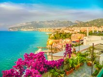 Aerial view of Sorrento town, amalfi coast, Italy. Aerial view of Sorrento city, amalfi coast, Italy Stock Photo