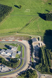 Aerial view : SOS Milk in fields in Francorchamps Stock Photography