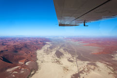 Aerial view of Sossusvlei in Namibia, Africa. Concept for traveling in Africa stock image