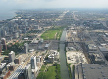 Aerial view south area Chicago Royalty Free Stock Photo