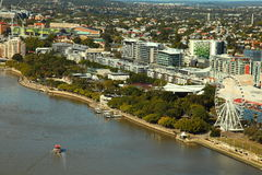 Aerial view South Bank Parkland, Brisbane royalty free stock photo
