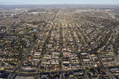 Aerial View of South Bay Neighborhoods in Southern California Royalty Free Stock Image