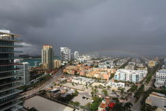Aerial View South Beach Storm Stock Photos