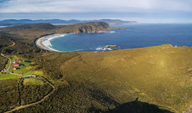 Aerial view of South Bruny National Park. Bruny Island, Tasmania royalty free stock photography