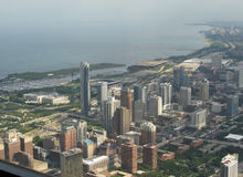 Aerial view of South Chicago Royalty Free Stock Photos