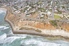 Aerial view south coastline Stock Photo