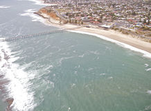 Aerial view south coastline Stock Photography