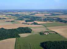 Aerial view of South Loiret department Royalty Free Stock Images