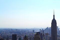 Aerial View of South Manhattan New York, NY Stock Photo
